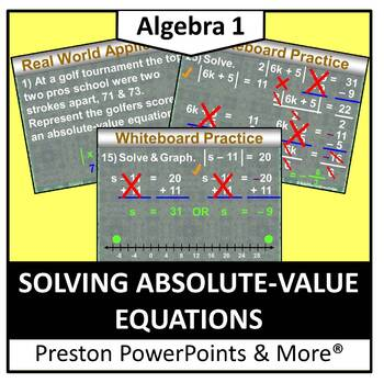(Alg 1) Solving Absolute Value Equations in a PowerPoint P