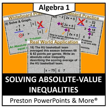 (Alg 1) Solving Absolute-Value Inequalities in a PowerPoin