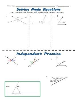 Solving Angle Equations