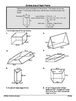 Solving Area, Volume, and Surface Area Problems 2 (CCSS 7.G.B.6)