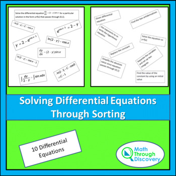 Solving Differential Equations through Sorting