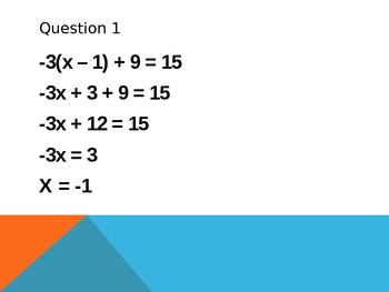 Solving Equations 1