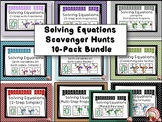 Solving Equations 10-pack Scavenger Hunts