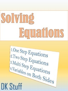 Solving Equations!