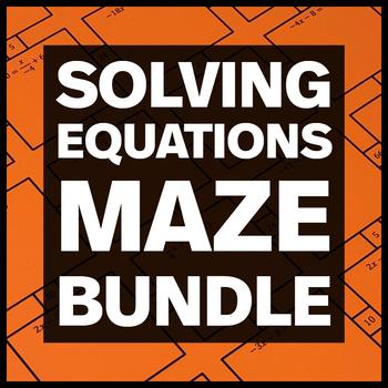 Solving Equations - 3 Mazes + 3 Bonus Mini Mazes