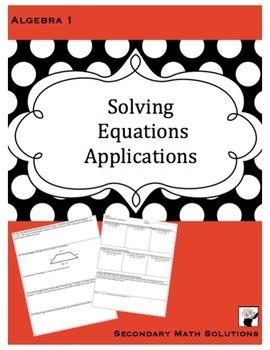 Solving Equations Applications