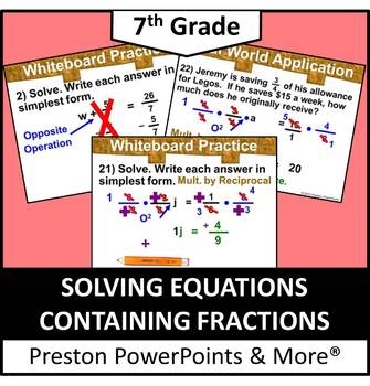 (7th) Solving Equations Containing Fractions in a PowerPoi