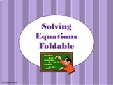 Solving Equations Foldable