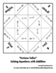 Solving Equations Fortune Teller Packet