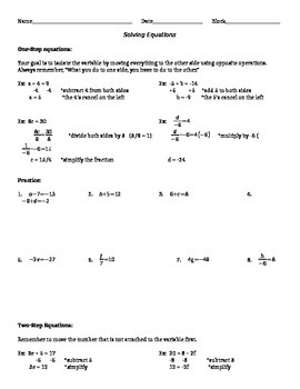Solving Equations Guided Practice