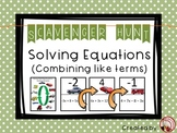 Solving Equations (Multi-Step Equations) Scavenger Hunt