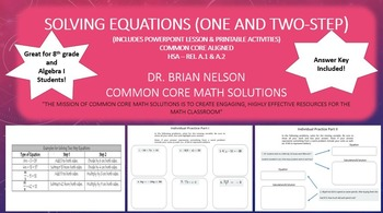 Solving Equations (One and Two-Step) - A PowerPoint presen