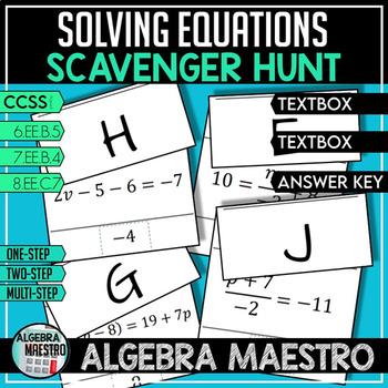 Solving Equations - Scavenger Hunt