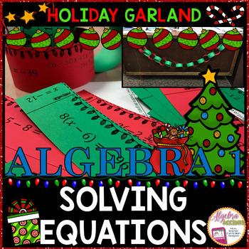 Christmas Algebra: Solving Equations Garland
