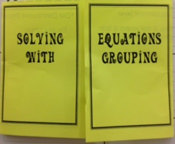 Solving Equations with Grouping Foldable