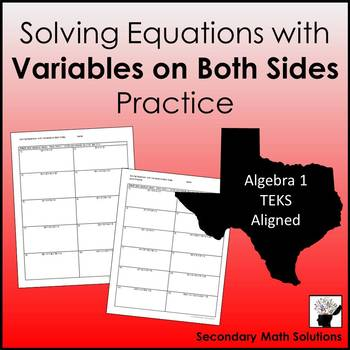 Variables on Both Sides Practice