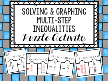 Solving & Graphing Multi-Step Inequalities Puzzle