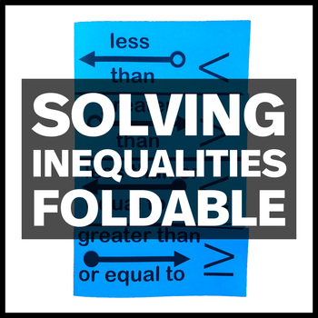 Solving Inequalities Foldable