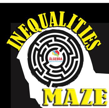 Solving Inequalities Fun Activity Maze Game Algebra