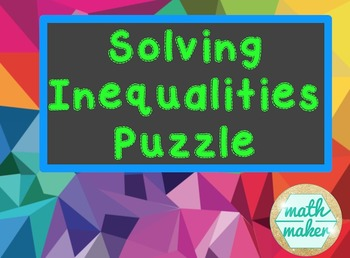 Solving Inequalities Puzzle