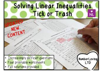 Solving Inequalities (Tick or Trash)
