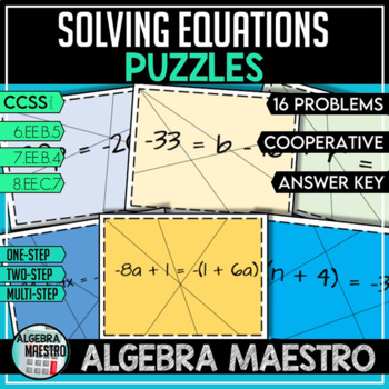 Solving Equations - Puzzle