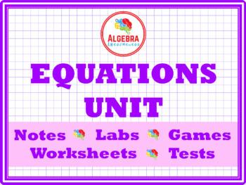 Solving Linear Equations Unit Bundle