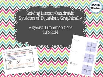 Solving Linear Quadratic Systems of Equations Graphically