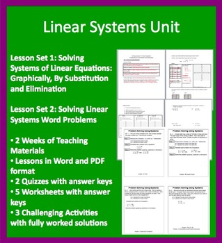 Solving Linear System Complete Unit - High School Mathematics