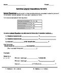 Solving Literal Equations Notes and Worksheet (Solving for