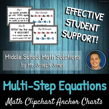 Solving Multi-Step Equations: DIY Math Anchor Chart CLIPCHART