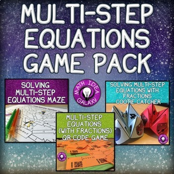 Solving Multi-Step Equations Game Pack