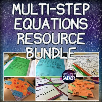 Solving Multi-Step Equations Lesson, Games, and Activities