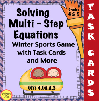 Solving Multi-Step Equations Winter Sports Game with Task