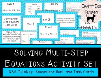 Solving Multi-Step Equations Activity Set {2 Activities!}