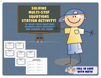 Solving Multi-Step Equations Station Activity!