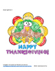 Solving Multi-Step Equations Thanksgiving Coloring Sheet