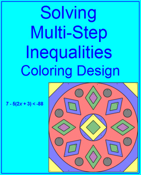 Solving Multi-Step Inequalities or Equations #3 - Coloring