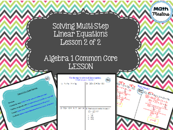 Solving Multi-Step Linear Equations Lesson 2 of 2