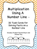 Solving Multiplication Facts on a Number Line - 32 Task Cards