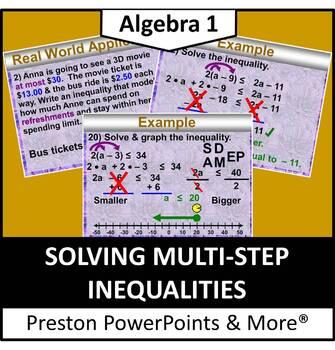 (Alg 1) Solving Multi-Step Inequalities in a PowerPoint Pr