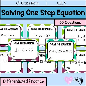Solving One Addition and Subtraction Step Equation  (Diffe