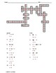 Solving One-Step Equations Crossword Puzzle III