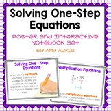 Solving One Step Equations Posters and Interactive Noteboo