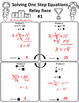 Solving One Step Equations Relay Race