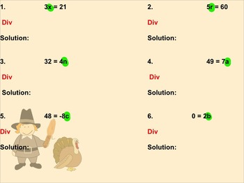 Solving One Step Equations Using Division Assignment on Sm