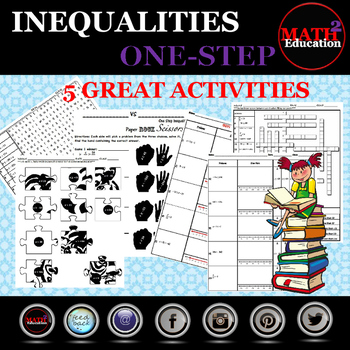 Solving and Graphing One Step Inequalities BUNDLE