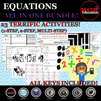 Solving One-Step, Two-Step, and Multi-Step equations SUPER
