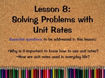 Solving Problems with Unit Rates