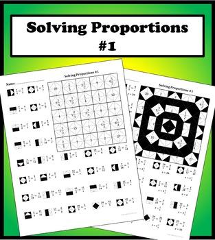 Solving Proportions #1 Color Worksheet